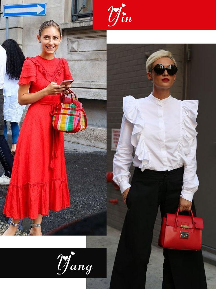 Galentine's Day fashion mash-up | Yin + Yang ruffles | Girlfriend is Better