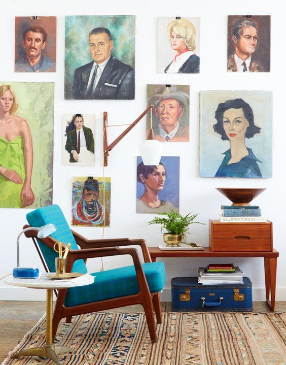 Gallery Wall ideas | mid-century modern decor | Girlfriend is Better