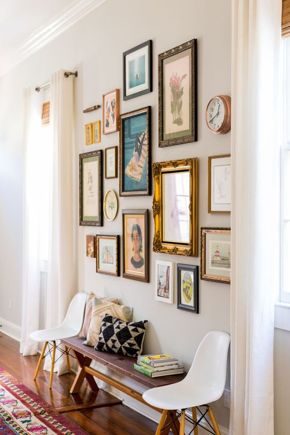 Hang children's artwork in vintage frames | Gallery Wall 101 | Girlfriend is Better