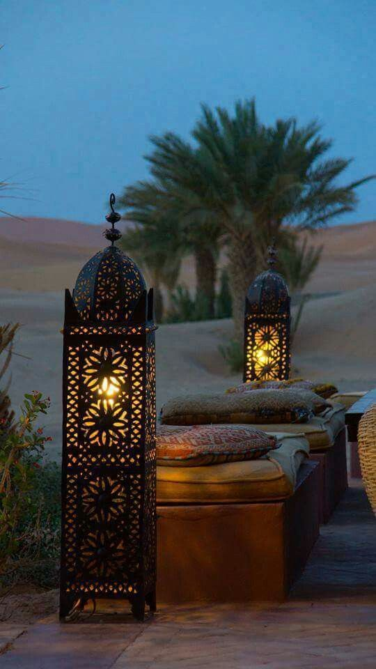 Moroccan lamps cozy up a Bohemian patio | Girlfriend is Better