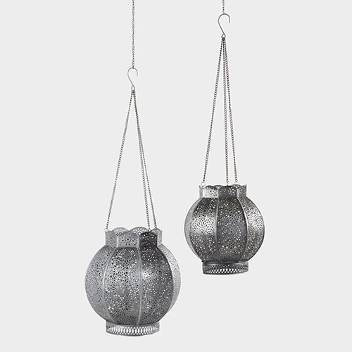 Zinc Filigree Pari Hanging Lantern | Cost Plus World Market