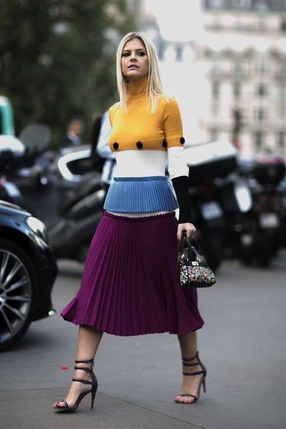 Purple complementary colors | Spring fashion | Girlfriend is Better