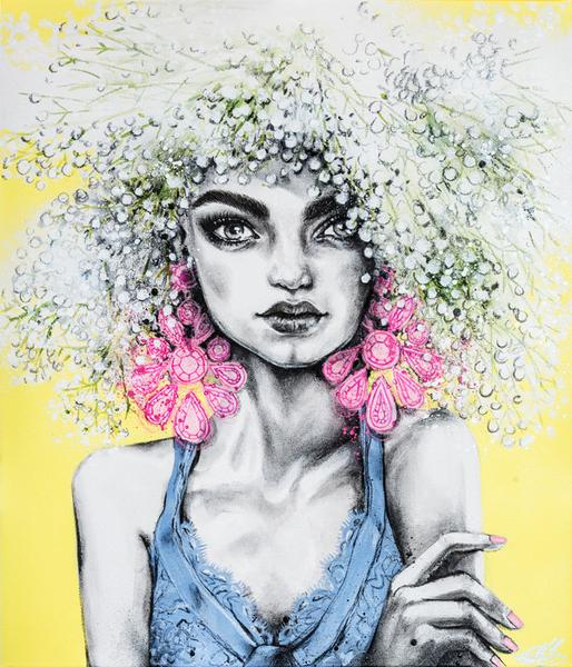 Confetti Pop by Pippa McManus | Fashion illustration favorites | Girlfriend is Better