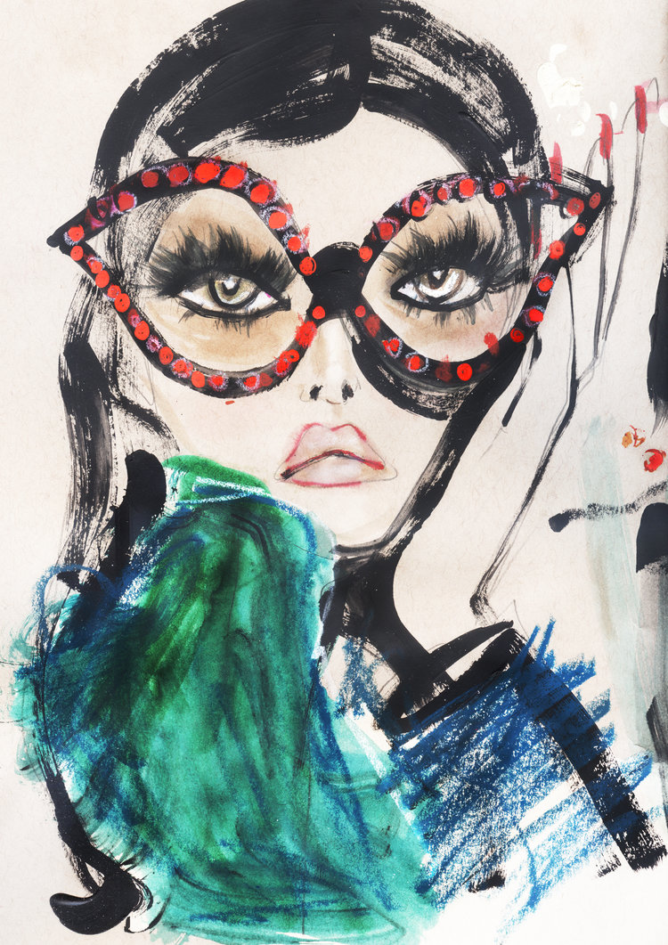 Specs and Claws by Blair Breitenstein | Fashion illustration favorites | Girlfriend is Better