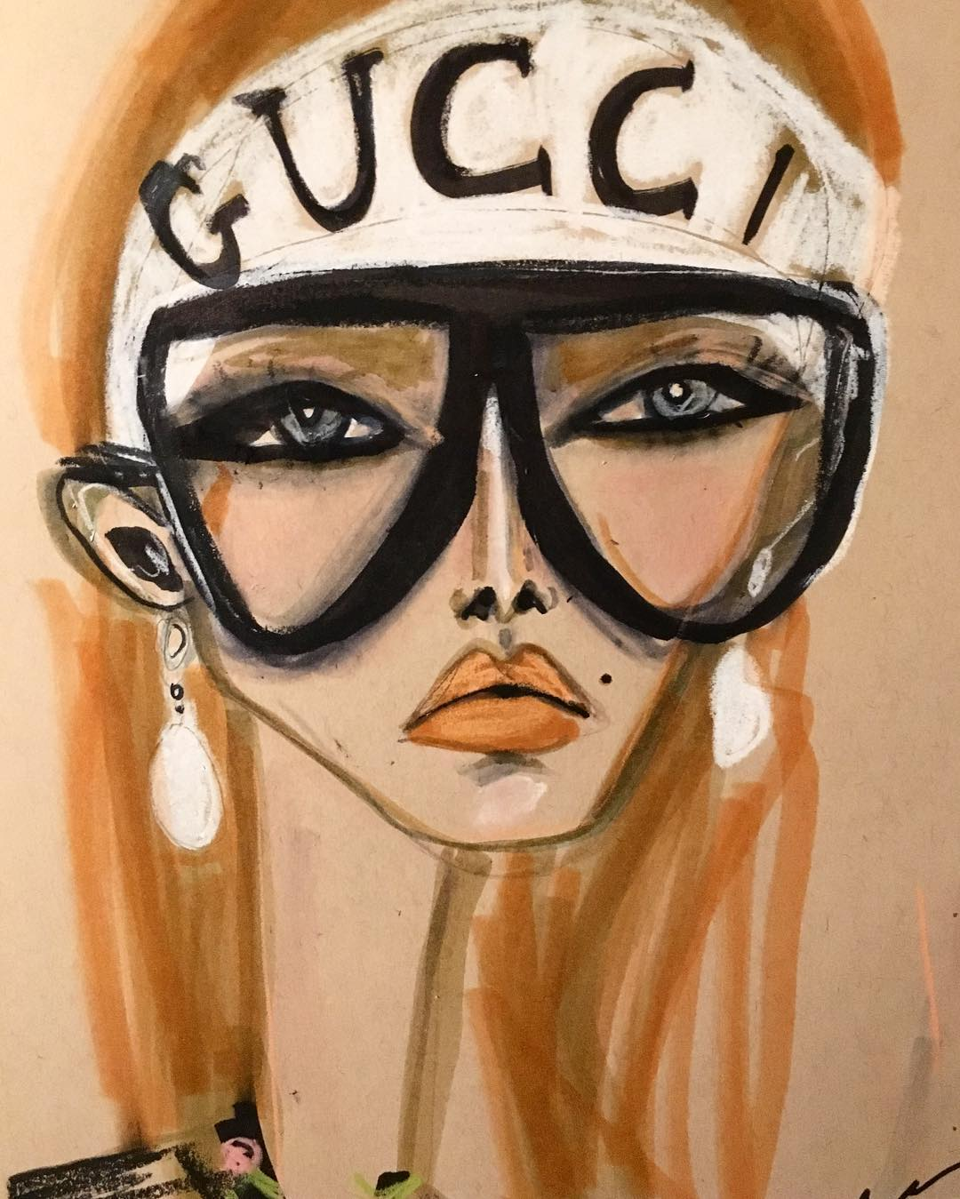 Gucci fashion illustration by Blair Breitenstein