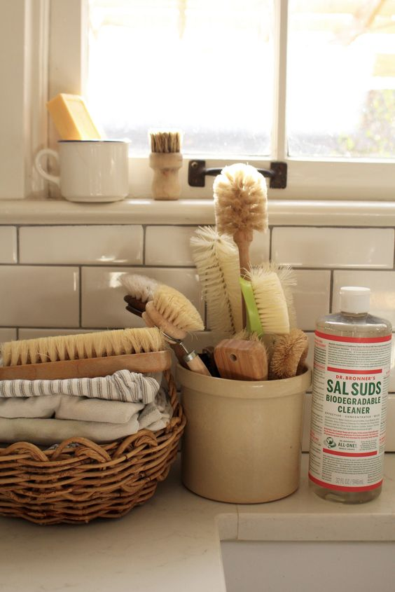 Use plant pots to organize counters and cupboards | Girlfriend is Better