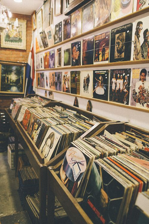 Vintage vinyl shopping | Record players and media cabinets | Girlfriend is Better