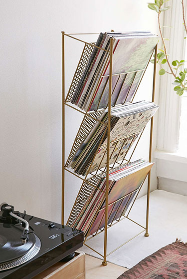 Corner Store Vinyl Storage Rack | Urban Outfitters