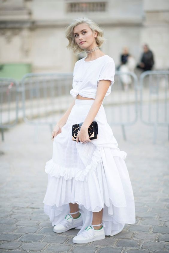 All white outfits for Spring | Paris Fashion Week | Girlfriend is Better