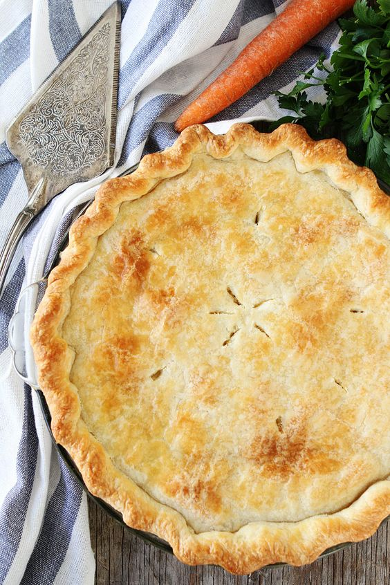 Hearty Chicken Pot Pie recipe   Healthier than you think!   Girlfriend is better