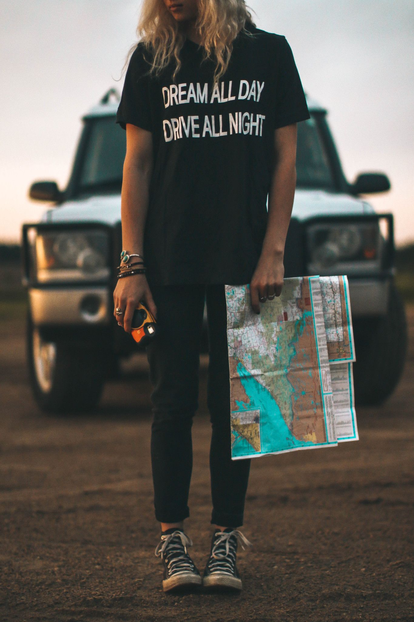 Dream All Day Drive All Night graphic tees | Girlfriend is Better