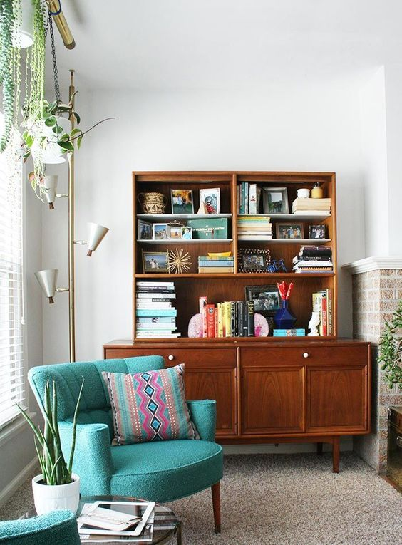 Add plant life to a reading nook | Girlfriend is Better