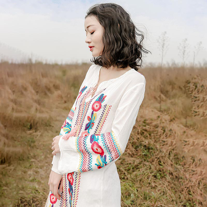 Spring dresses with embroidery details   Girlfriend is Better