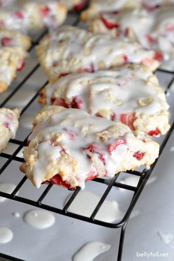 Strawberry shortcake scones recipe | Girlfriend is Better