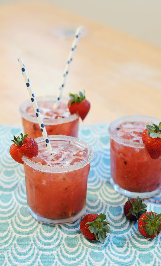 Strawberry Basil Ginger Cocktail recipe | Girlfriend is Better