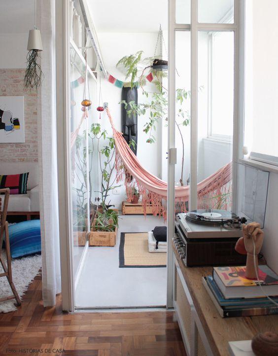 Add an indoor hammock to your sunroom | Girlfriend is Better