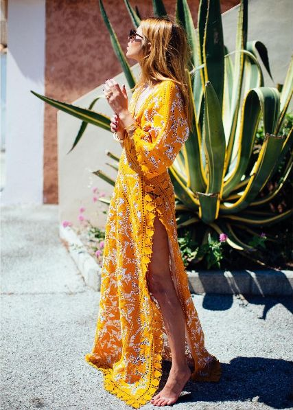 Yellow Tory Burch maxi dress | Spring fashion | Girlfriend is Better