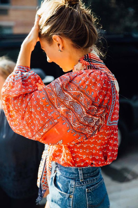 Yellow and orange peasant blouses for Bohemian charm | Spring fashion | Girlfriend is Better