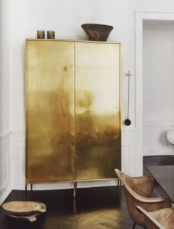 Solid gold paint job on an armoire | Girlfriend is Better