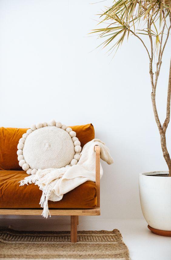 Pampa cushions warm up summer decor | Girlfriend is Better