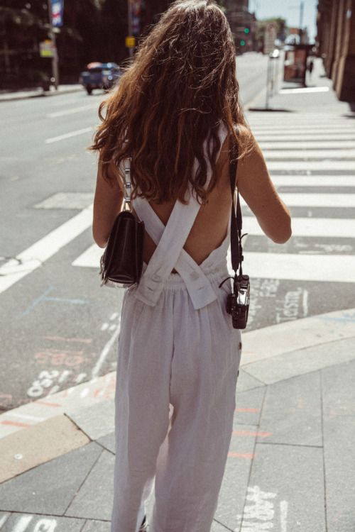 White pinafores apron-style summer fashion | Girlfriend is Better