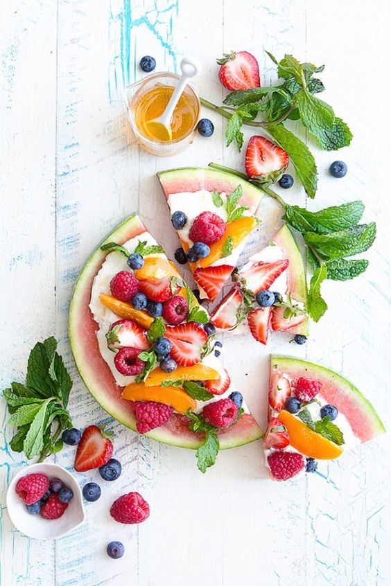 Watermelon fruit pizza recipe | Girlfriend is Better