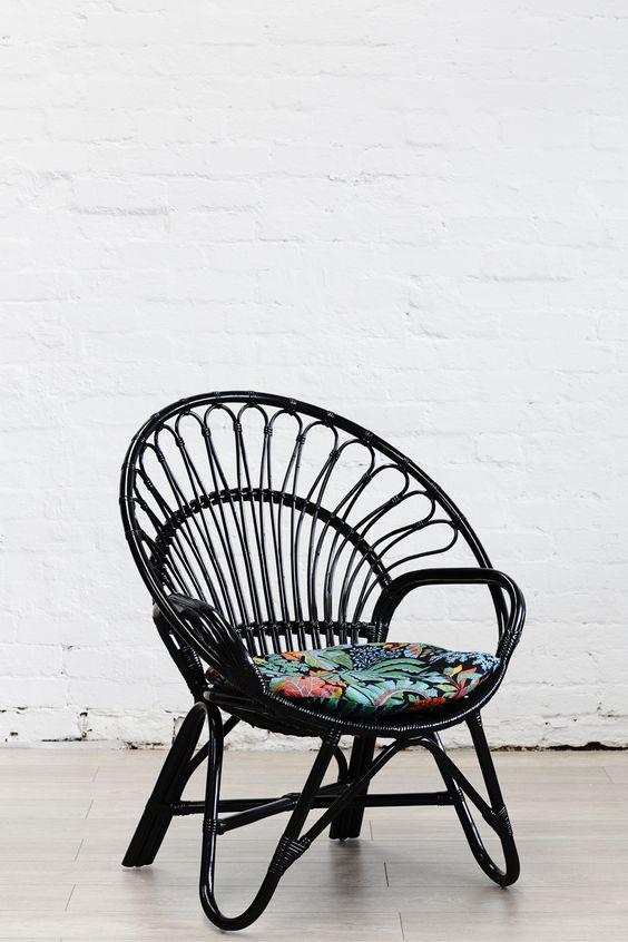 Black modern bamboo chair | Girlfriend is Better