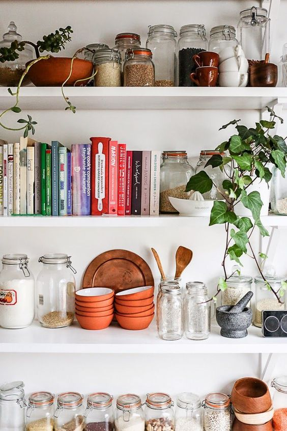 Open shelving in the kitchen | Girlfriend is Better