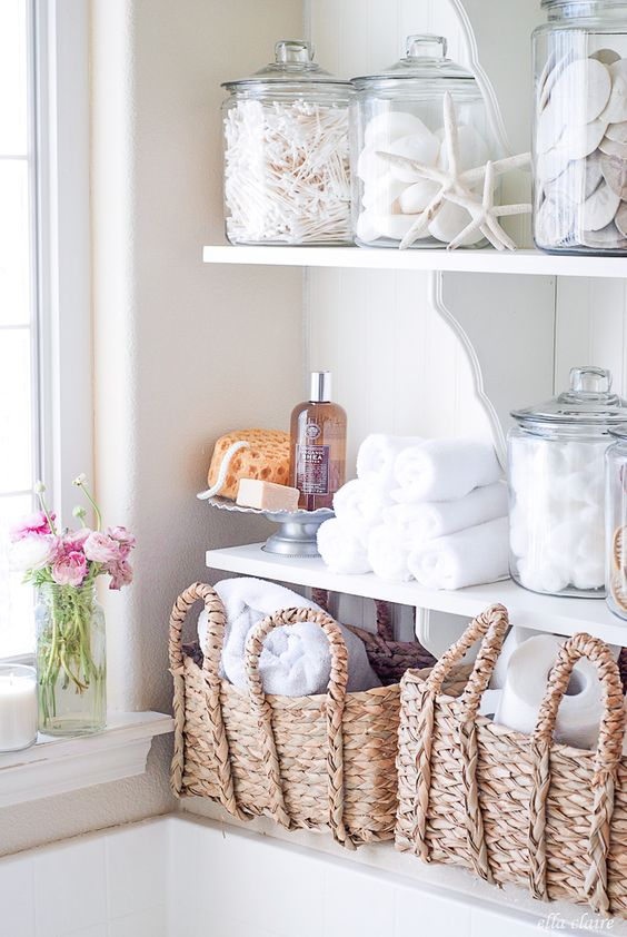 Open shelving in the laundry room | Girlfriend is Better