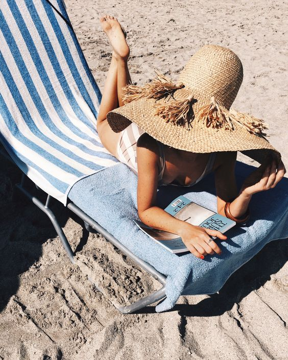 Wide brim straw hats with tassels | Girlfriend is Better