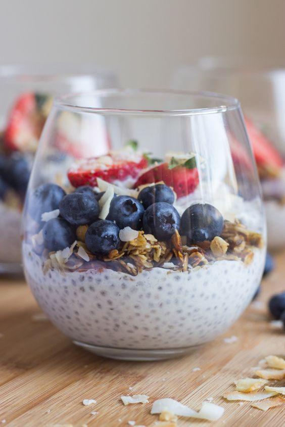 Vanilla Greek Yogurt Chia Seed Pudding Recipe | Girlfriend is Better