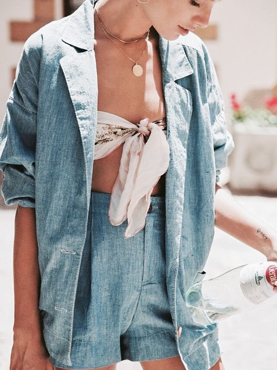 Tie front top and coin necklaces | Girlfriend is Better