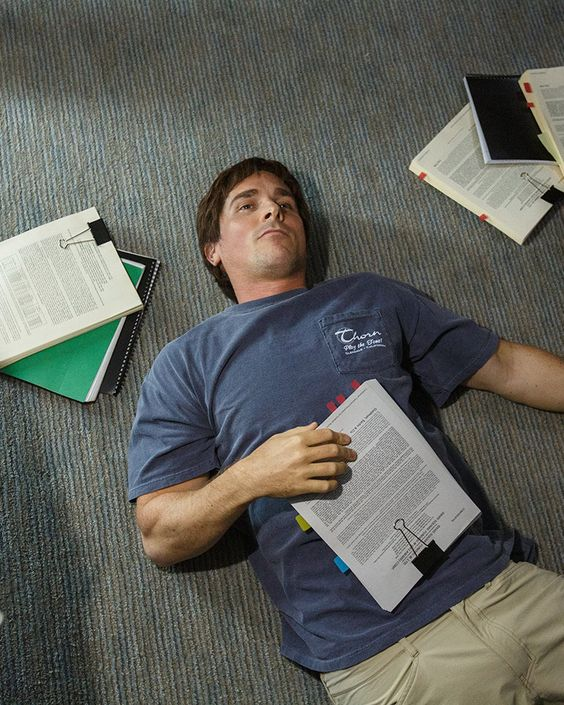 Christian Bale as Michael Burry in The Big Short | 72-hour kits list | Girlfriend is Better