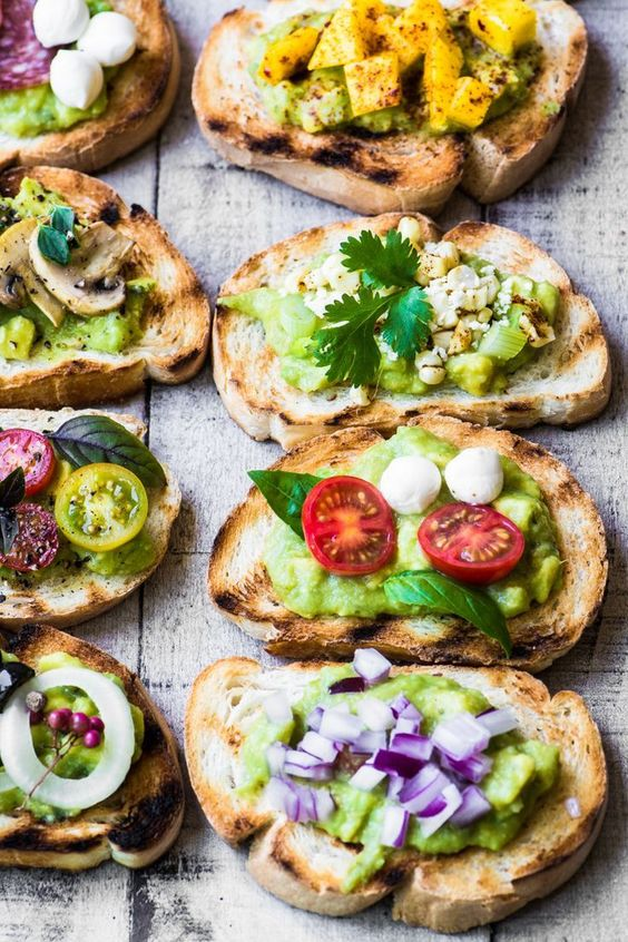 Guacamole Bruschetta Bar | Avocado toast recipes upgraded | Girlfriend is Better