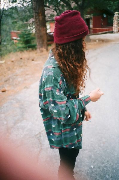 Vintage flannel shirt with Southwestern print | Hiking clothes | Girlfriend is Better