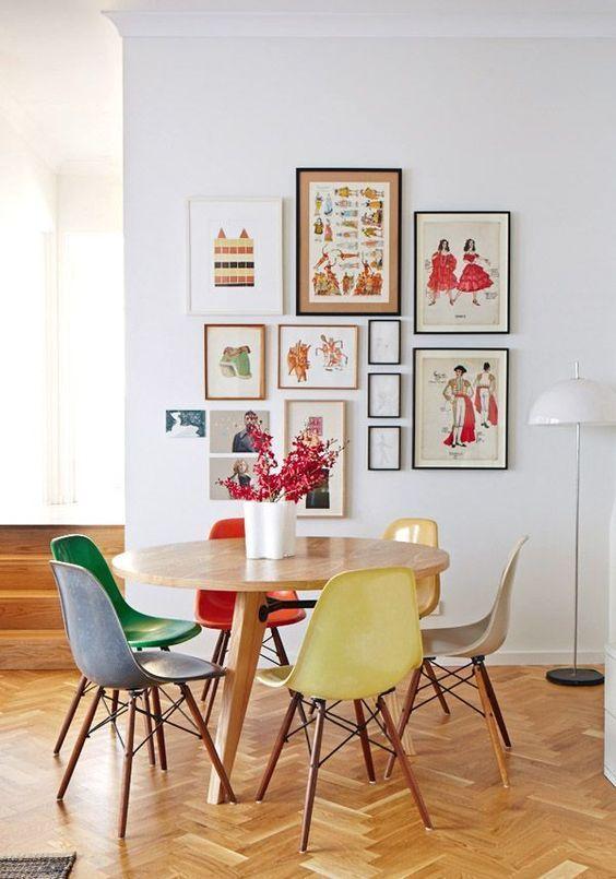 Rainbow dining chairs   Mid-century modern   Girlfriend is Better