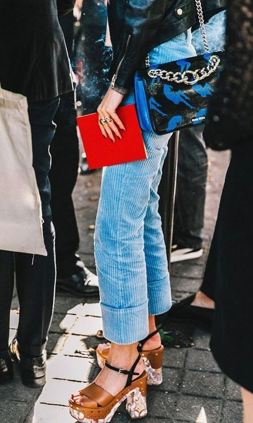 Corduroy cropped pants for Fall fashion   Girlfriend is Better