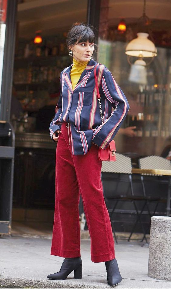 70s inspired corduroy gaucho pants | Girlfriend is Better