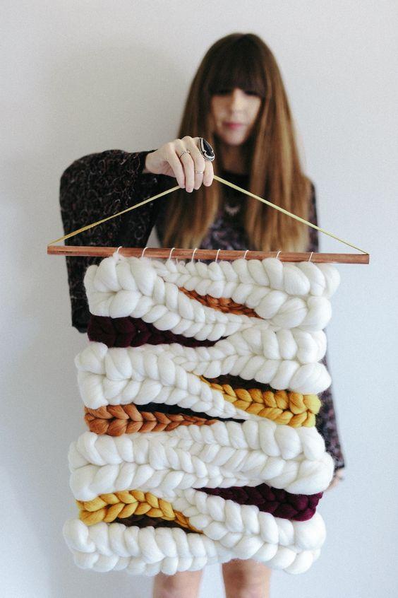 Jeannie Helzer artist macrame wall hangings | Girlfriend is Better