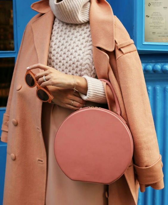 Orange shades for Fall | Wool coat, bag, sunglasses | Girlfriend is Better