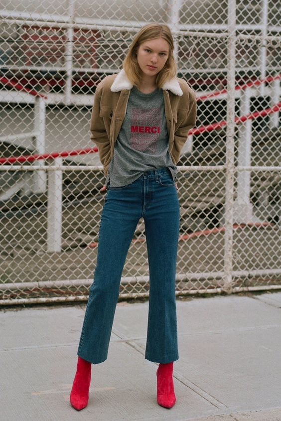 Cropped bells | Highwater denim pants | Girlfriend is Better