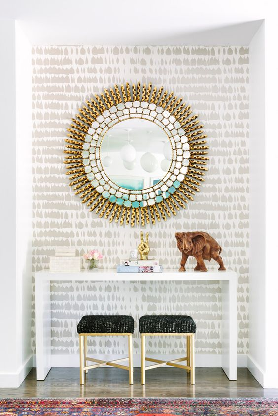 Sunburst mirror glamour | Celestial decor | Girlfriend is Better