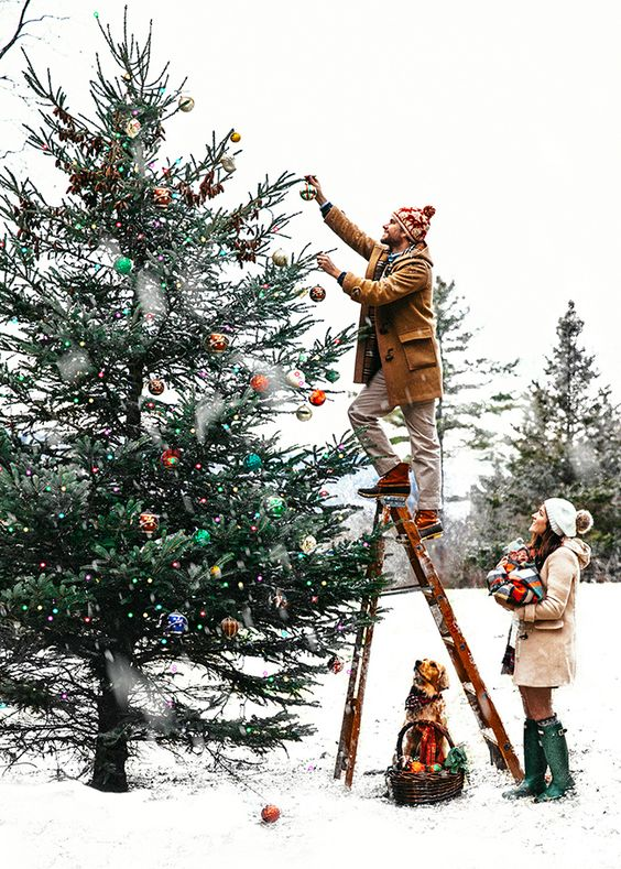 Christmas decor with Hygge   Outdoor tree ornaments   Girlfriend is better