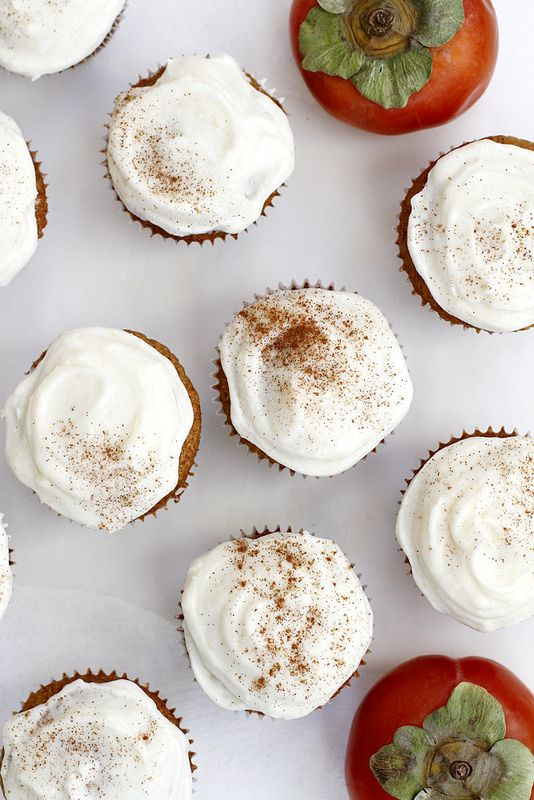 Persimmon Spice Cupcakes | Persimmons recipes and health benefits | Girlfriend is Better