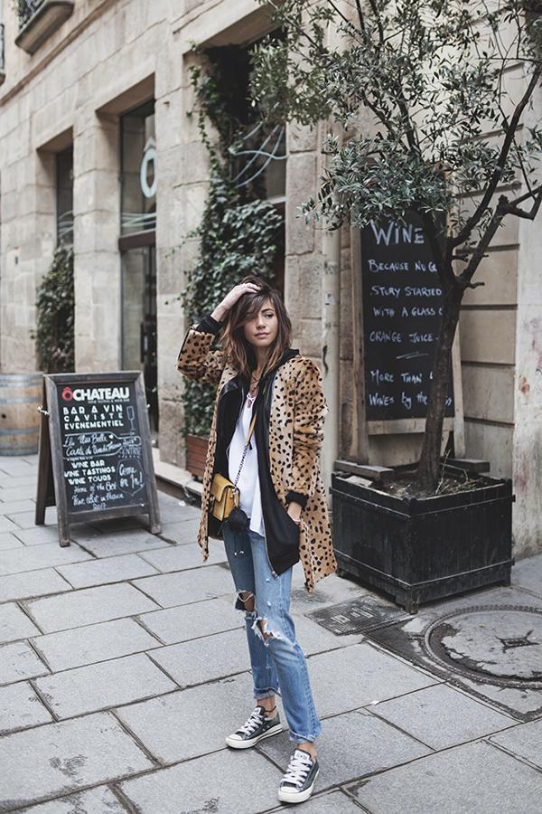 Cheetah faux fur coat | Winter fashion street style | Girlfriend is Better