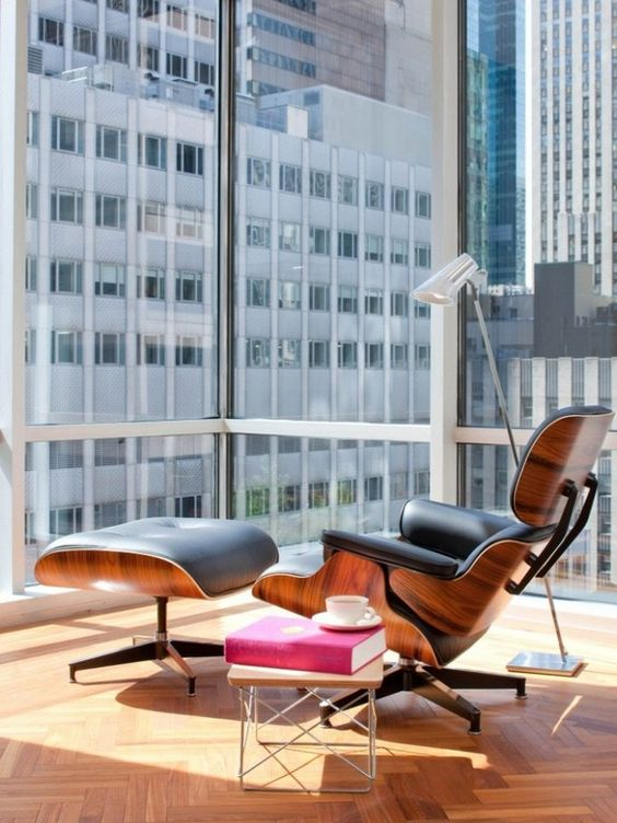 Eames Lounge Chair + Ottoman | Mid-century modern furniture | Girlfriend is Better