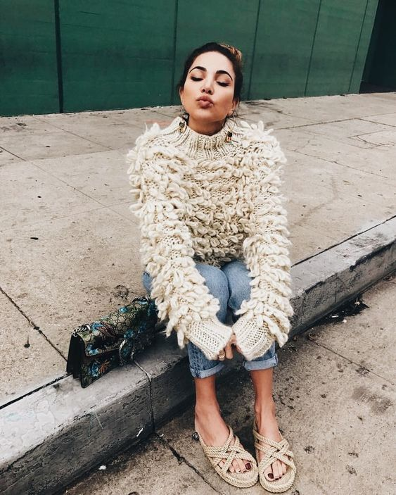 Chunky knit oversize sweaters for Spring | Girlfriend is Better