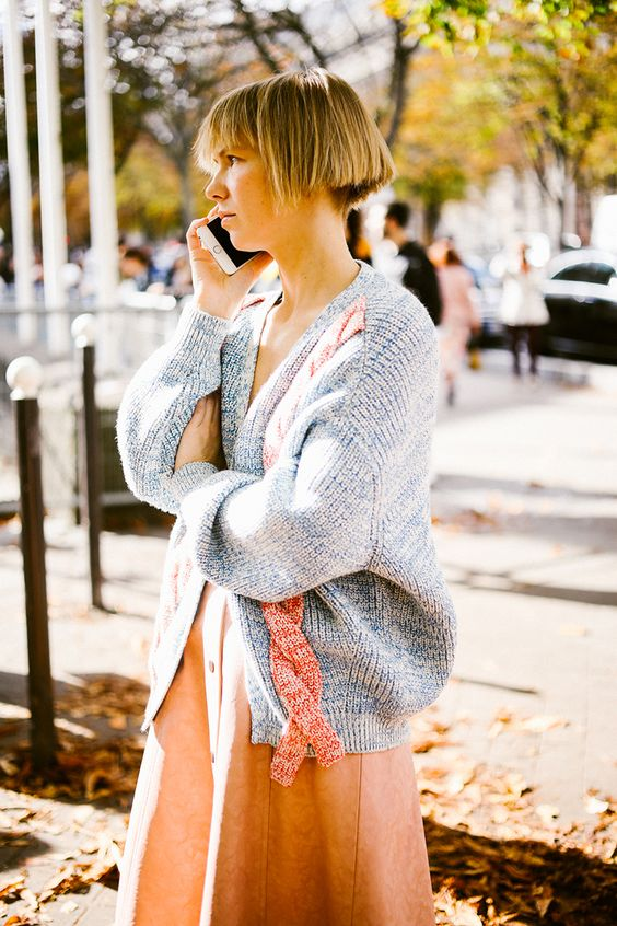 Oversize sweaters chunky cable knit cardigan | Girlfriend is Better