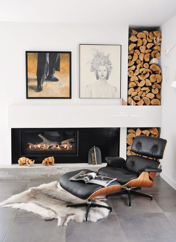 Eames lounge chair and ottoman | Aquarius astrology home decor guide | Girlfriend is Better
