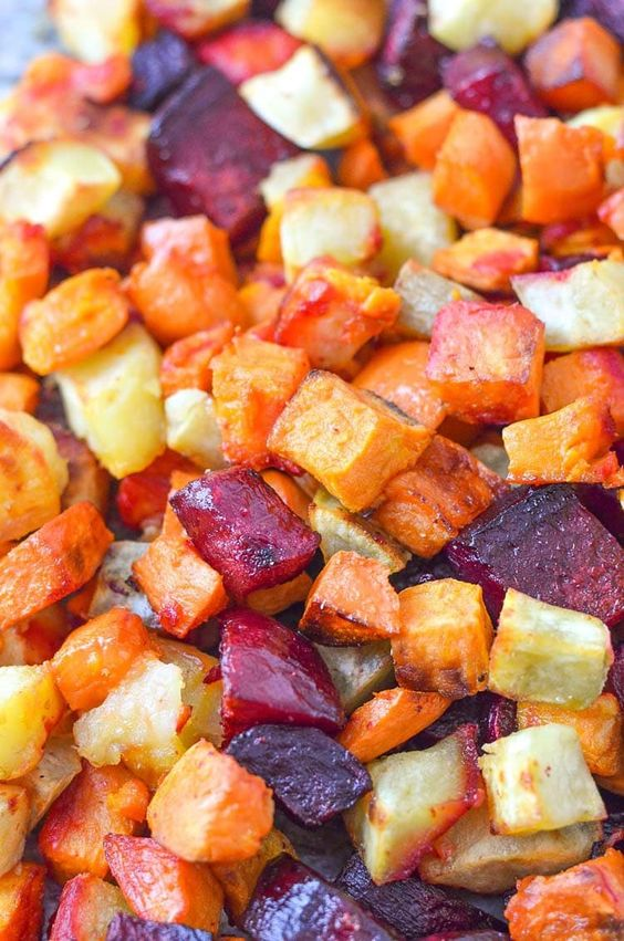 Roasted Beets and Sweet Potatoes healthy recipe | Girlfriend is Better